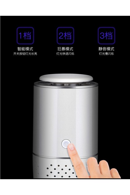 BEULIFE Car Air Purifier with Ionizer Generating Negative Ions PM2.5 HEPA Filter Air Purification Smart Air Quality Detection