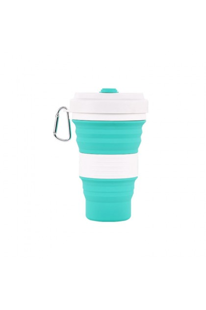 550 ml Food Grade Collapsible Silicone Cup Silicone Mug Reusable Cup for Starbucks & Bubble Tea Lover Suitable Travelling & Outdoor Activities