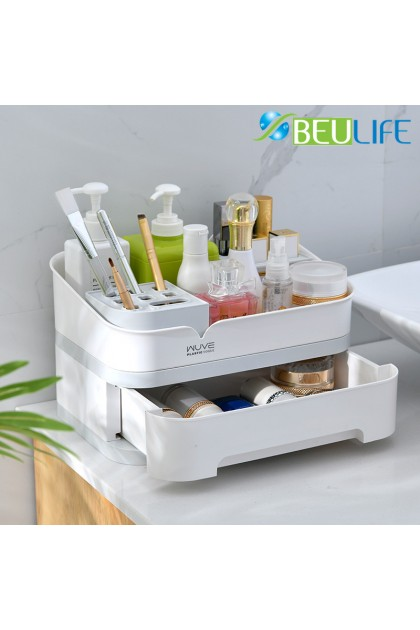 Cosmetic Makeup Skin Care Product Storage Box with Drawer Suitable to Keep Makeup Brush, Perfume, Lipstick, Jewelry Accessories, Skin Care & Makeup Products